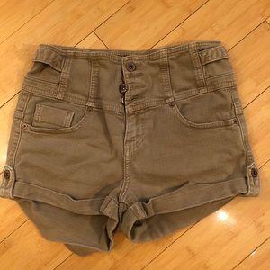 TopShop super high-waisted denim shorts